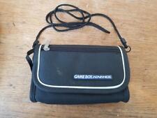 Gameboy Advance GBA Official console carry case Shoulder Bag Straps handle Black