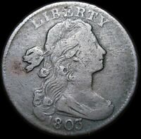 1803 Draped Bust Large Cent Penny  ----  Nice Type Coin   ---- #K458