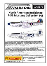 Xtra Decals 1/48 NORTH AMERICAN BUBBLETOP P-51 MUSTANG Collection Part 1