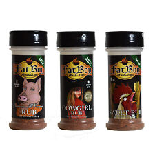 Fat Boy Natural BBQ Top Three 4 oz Rub Package