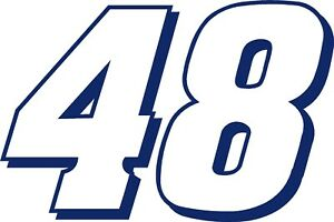 NEW FOR 2019 #48 Jimmie Johnson Racing Sticker Decal - Sm thru XL various colors