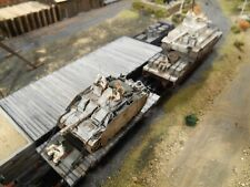 HO Roco Minitanks Artitec 9th Panzer Two Tank Railway Cars Hand Painted #A1122