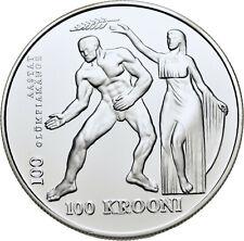 LANZ Estland 100 Kronen 1996 Olympiade Atlanta Olympia #WMU7430