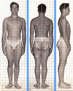 SAD WORST DAY EVER ~1940s 5x7 NAVY ID PHOTO NEAR NUDE JOCK SAILOR MAN gay #190