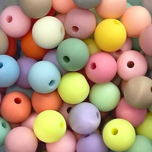 Quality Frosted Solid Acrylic Beads, Round, Various Colour and Size of 6 - 16 mm