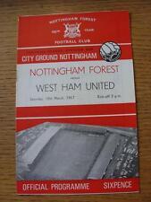18/03/1967 Nottingham Forest V West Ham United. toda falla con este artículo Wil