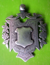 Large Sterling Silver Medal / Fob / Pendant  -  Birmingham 1894 - not engraved