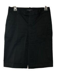 "Banana Republic Martin Fit Women's Black Cuffed Bermuda Shorts 10"" Inseam Size 0"