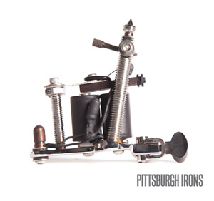 PITTSBURGH IRON Bolt Frame Liner or Shader Professional Tattoo Machine w/ Coils