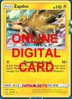 1X Zapdos 40/181 Team Up Pokemon TCG Online Digital Card