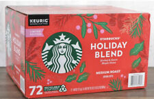 Starbucks Holiday Blend Medium Roast Coffee K-Cup Pods 72 Count Exp 8/jul/2021