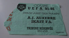 Ticket for collectors EC AJ Auxerre - Ikast FS 1991 France Denmark
