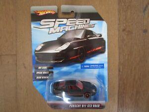 Hot Wheels Speed Machines PORSCHE 911 GT3 Premium Deluxe Race Racing Sports Car