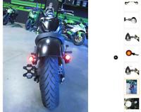 moto Feu arrière stop clignotant LED intégrés harley custom café racer boober