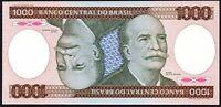 1981 Brazil 1000 Cruzeiros Banknote * aUNC * P-201a *