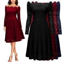 Women's Off the Shoulder Scallop Lace Dress for Homecoming and Semi Formal Event