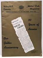 Schuykill County Motor Club Magazine June, 1959 50 Year Anneversary