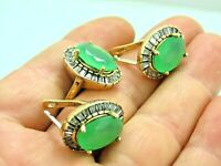 Turkish Handmade Jewelry 925 Sterling Silver Chalcedony Stone Women Earring Set