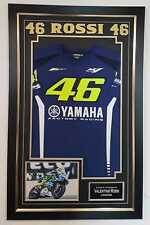 *** Rare VALENTINO ROSSI Signed Photo and SHIRT Autographed Display ***