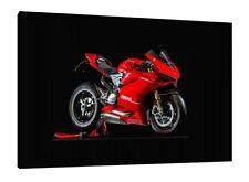 DUCATI 1299 Panigale 30x20 pulgadas lienzo enmarcado cuadro impresión