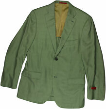 ISAIA GREEN CASHMERE MEN'S JACKET/ BLAZER-48/38/50/40-MADE IN ITALY
