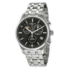 Certina DS 8 Chronograph Moonphase Black Dial Stainless Steel  Mens Quartz