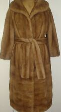 American Legend Top Quality Honey Pastel Mink Fur Coat Size 8-10 Free Shipping