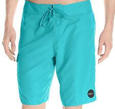 E1005 - O'Neill Santa Cruz Solid Board Shorts * NWT Mens 34 Turquoise - #27347