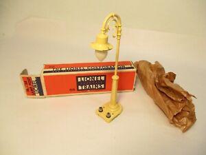 Lionel 58 Gooseneck Lamp Post Cream Unused OB Prewar O Gauge X7274