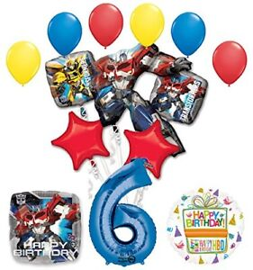 The Ultimate Transformers 6th Birthday Party Supplies and Balloon Decorations