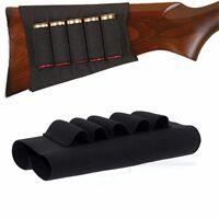 shotgun .12Ga 6 shells holder genuine leather  #224-4 buttstock cover