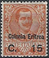 1905 Eritrea VE III 15c. su 20c. bc. MNH Cat Sass n. 30 € 800,00