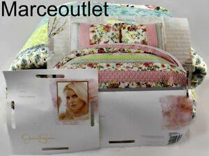 Jessica Simpson Boho Garden KING Cotton Quilt