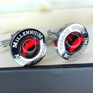 Alfred Dunhill Cufflinks Millennium Limited Edition Sterling Silver w/Box&Papers