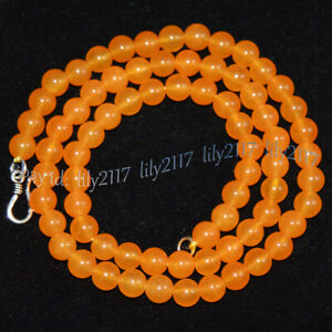 Lots 4mm Multi-Color Jade Gemstone Smooth Round Beads Necklace 18'' Silver Clasp