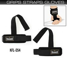 Kango Fitness Pro Weight Lifting Gym Straps Hand Bar Wrist Support Gloves Wrap