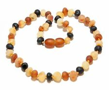 Genuine Raw Baltic Amber Baby Necklace Unpolished Mixed 11.8 - 12.6 in