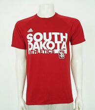 Adidas ClimaLite South Dakota Coyotes Red Tee Shirt Mens Medium