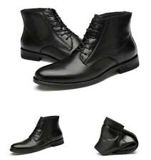 Mens High Top Faux Leather Ankle Boots Shoes Business Chukka Formall Round Toe L
