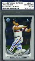 JOSE ABREU 2014 BOWMAN CHROME ROOKIE HAND SIGNED PSA/DNA ORIGINAL AUTOGRAPH