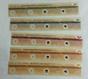 Risk Godstorm Replacement Pantheon Cards Markers Set of 5 Pieces Parts Reference