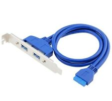 USB 3.0 Panel Expansion Bracket To 20-Pin Header Cable Motherboard 50cm