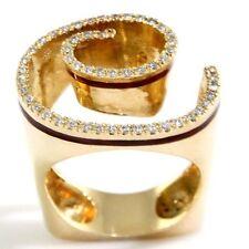 New 14k Yellow Gold Diamond Designer Spiral Ring Size 6.5