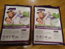 Lot of 2 Healthy Sleep Supreme Pillow Protector ( Queen Size )