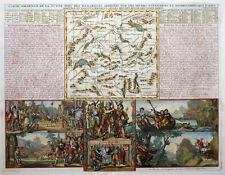 EUROPA KARTE SCHWEIZ ANCIENNE DE LA SUISSE AVEC DES REMARQUES CHATELAIN 1720