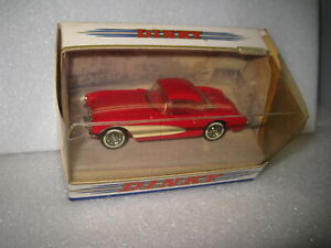 MATCHBOX DINKY 1/43 CHEVROLET 1956 CORVETTE RED OLD SHOP STOCK DY-23