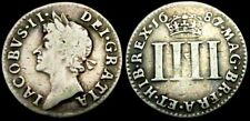 More details for w318: 1687 over 6 james ii silver groat or fourpence. short reign. spink 3414