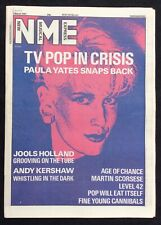 NME 7 March 1987 Paula Yates Pop TV Age of Chance Scorsese Level 42 Andy Kershaw