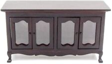 1:12 Miniature Wood Buffet Sideboard Cabinet Dollhouse Furniture Accessories