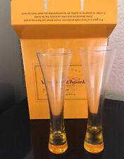 VEUVE CLICQUOT PONSARDIN CHAMPAGNE TRENDY GLASS X 2  GLASS NOT ACRYLIC RARE NEW